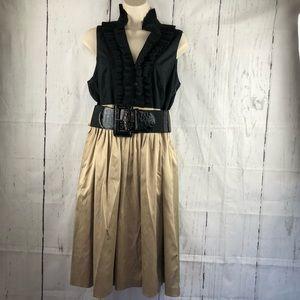 Eliza J New York ruffle front sleeveless dress 10